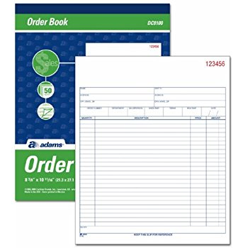 Purchase Order Form Booklet
